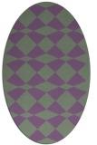 rug #298080 | oval check rug