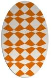 rug #298089 | oval orange check rug