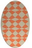 rug #298093 | oval orange check rug