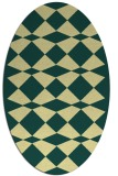 rug #298101 | oval yellow check rug