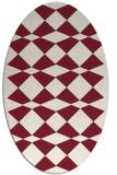 rug #298109   oval pink retro rug