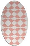 rug #298117 | oval white check rug