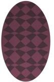 rug #298121 | oval purple check rug
