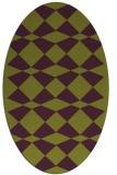 rug #298125 | oval purple check rug