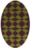 rug #298126 | oval check rug