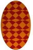 rug #298141 | oval red check rug