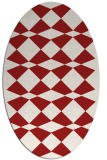 rug #298145 | oval red check rug