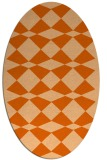 rug #298157 | oval red-orange check rug