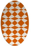 rug #298165 | oval red-orange check rug