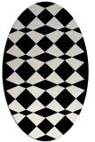 rug #298169 | oval white check rug
