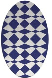 rug #298177 | oval white check rug