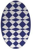 rug #298177 | oval blue check rug