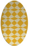 rug #298185 | oval yellow check rug