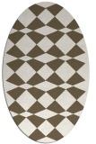 rug #298191 | oval check rug
