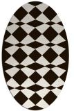 rug #298193 | oval brown rug
