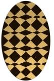 rug #298195 | oval check rug