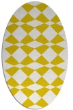 rug #298197 | oval yellow check rug