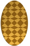 rug #298201 | oval yellow graphic rug
