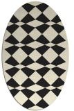 rug #298205 | oval black graphic rug