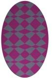 rug #298210 | oval check rug