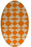 rug #298213 | oval orange check rug