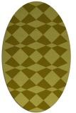 rug #298217 | oval light-green check rug