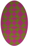 rug #298225 | oval light-green check rug