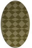 rug #298229 | oval light-green check rug