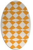 rug #298245 | oval light-orange retro rug
