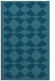 rug #298297 |  blue-green check rug