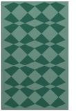rug #298305 |  blue-green retro rug
