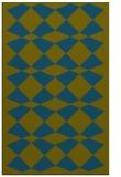 rug #298309 |  blue-green check rug
