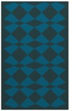 rug #298325 |  blue-green check rug
