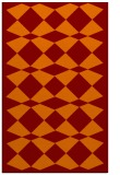 rug #298437 |  red-orange check rug