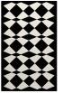 rug #298521 |  black check rug