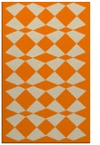 rug #298565 |  orange check rug