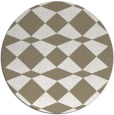 rug #298601 | round white check rug