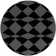 rug #298609 | round black graphic rug