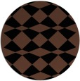 rug #298617 | round brown check rug