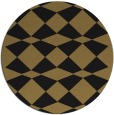 rug #298621 | round brown check rug