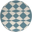 rug #298625 | round white check rug