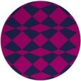 rug #298629 | round blue check rug