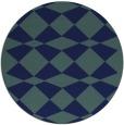 rug #298633 | round blue check rug
