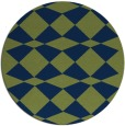 rug #298637 | round green check rug