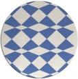 rug #298641 | round blue check rug