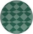 rug #298657 | round blue-green check rug