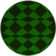 rug #298669 | round green check rug