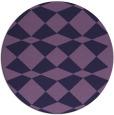 rug #298697 | round purple check rug