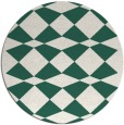 rug #298733 | round blue-green check rug