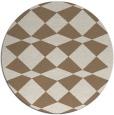 rug #298753 | round beige check rug